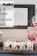 DIY Pottery Barn Inspired Love Votive Candles