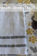 Quick and Easy Ribbon Trimmed Kitchen Towels