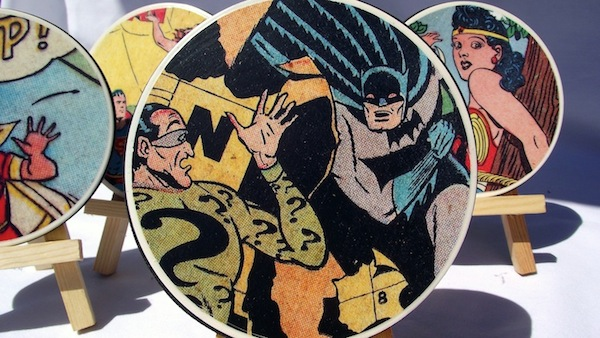 DIY Comic Book Coasters - how fun!