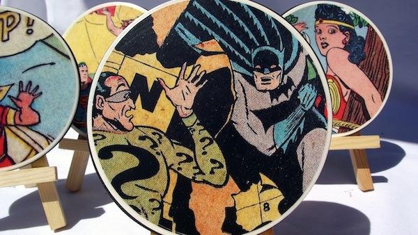 DIY Comic Book Coasters - how fun!