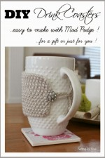 How to Make Easy Mod Podge Gift DIY Coasters
