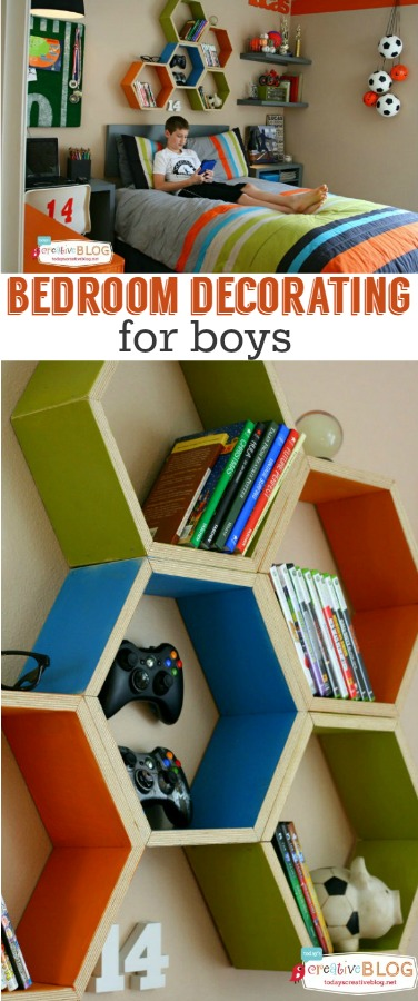 Cool Bedroom Decorating Ideas for Boys! Kids will love these super cool DIY decor ideas to create a fun study, sleeping and hangout space!