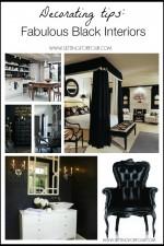 Decorating tips - fabulous black interiors!