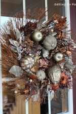 Metallic Fall Wreath - instant curb appeal for your home!