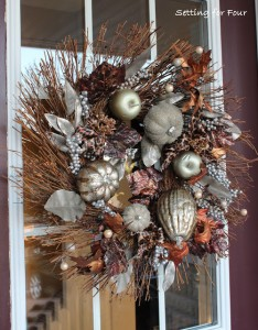 Metallic Fall Wreath – Curb Appeal