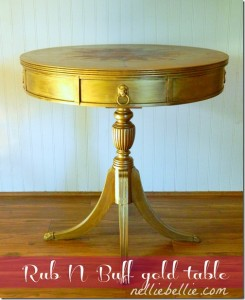 DIY Rub 'n Buff Table with Compass Rose – Guest Post {NellieBellie}