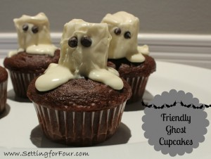Friendly Ghost Cupcakes
