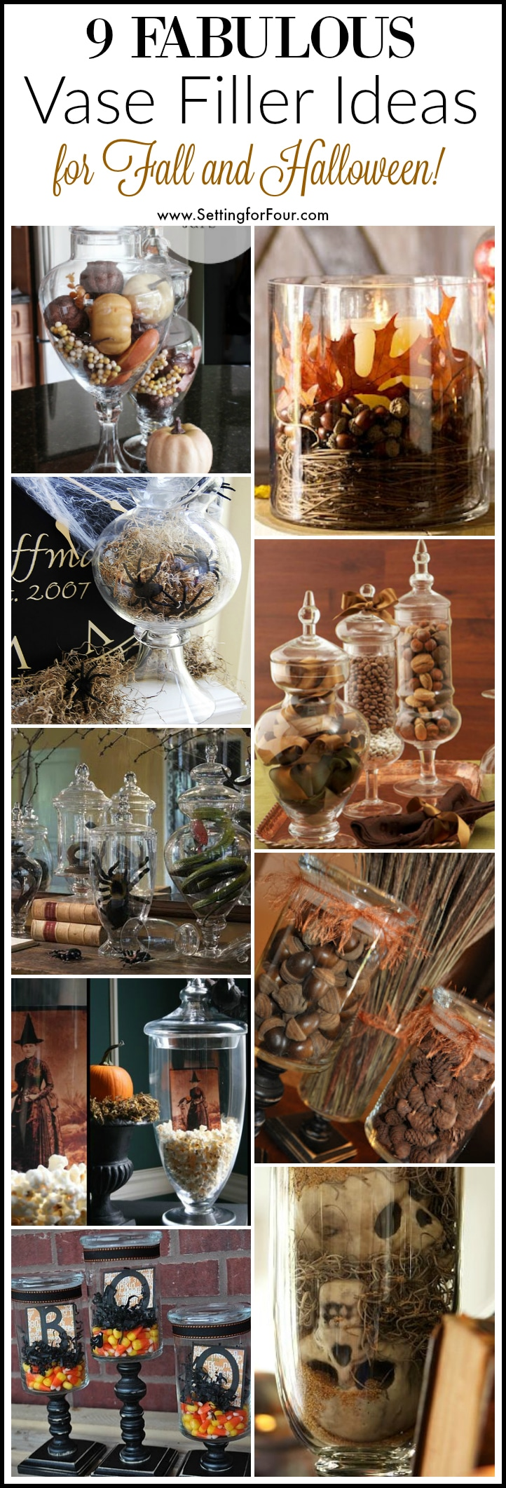 9 apothecary jar fillers fall halloween ideas setting for four its fun to decorate your vases and apothecary jars for the seasons and holidays see reviewsmspy