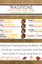 Thanksgiving Traditions N~S~E~W Linky Party- New!  Don't Miss It October 3rd!