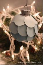 DIY Ombre Christmas Ornament