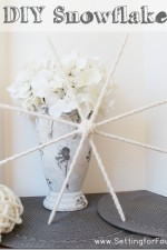 Make A Snowflake DIY Craft- Winter & Holiday Decor