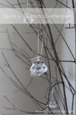 DIY Sparkly Branch Centerpiece Tutorial