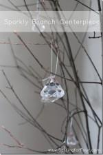 DIY Sparkly Branch Centerpiece Tutorial