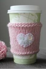 Cup Cozy – Valentine DIY