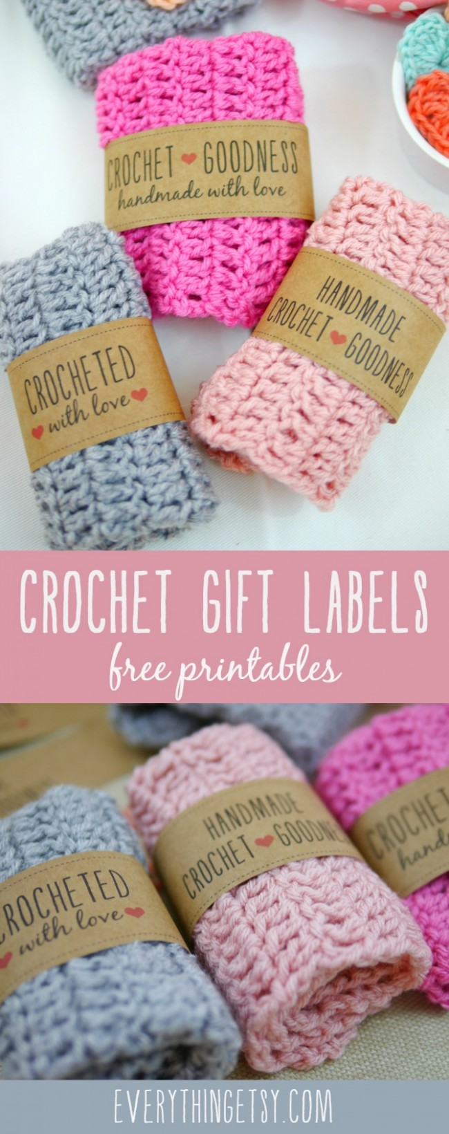 Free Printable Crochet Gift Labels!