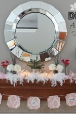 How to Decorate a Mantle for Valentine's Day #valentineHOA