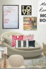Modern Romance Living Room Decor Moodboard