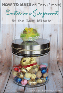 How to make a Easy (Simple) 'Easter in a Jar' Present at the Last Minute!