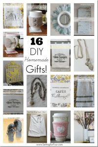 Looking for DIY gifts to make for her: birthdays, Mother's Day and holidays? See these 16 Beautiful Gifts to Make - you'll love to make and give!