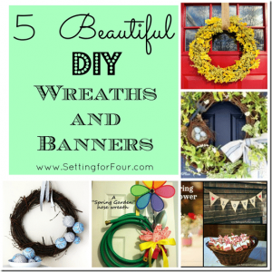 5 Beautiful DIY Wreaths and Banners – Handmade features from Project Inspire{d} Linky Party