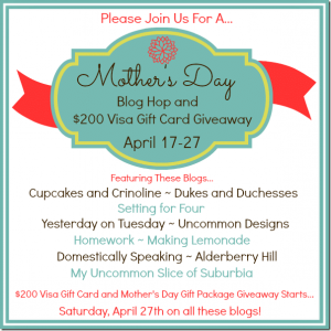 Mother's Day Blog Hop and Giveaway!
