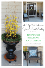 4 Tips to Enhance Your Front Entry // Outdoor Seating and Decor