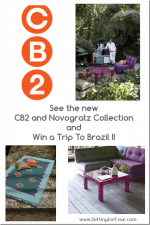See the CB2 and Novogratz Collection & Win a Trip to Brazil!