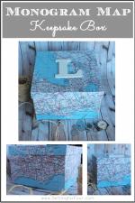 Monogram Map Keepsake Box
