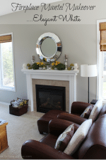 My Fireplace Mantel Reveal -A Makeover with Paint!