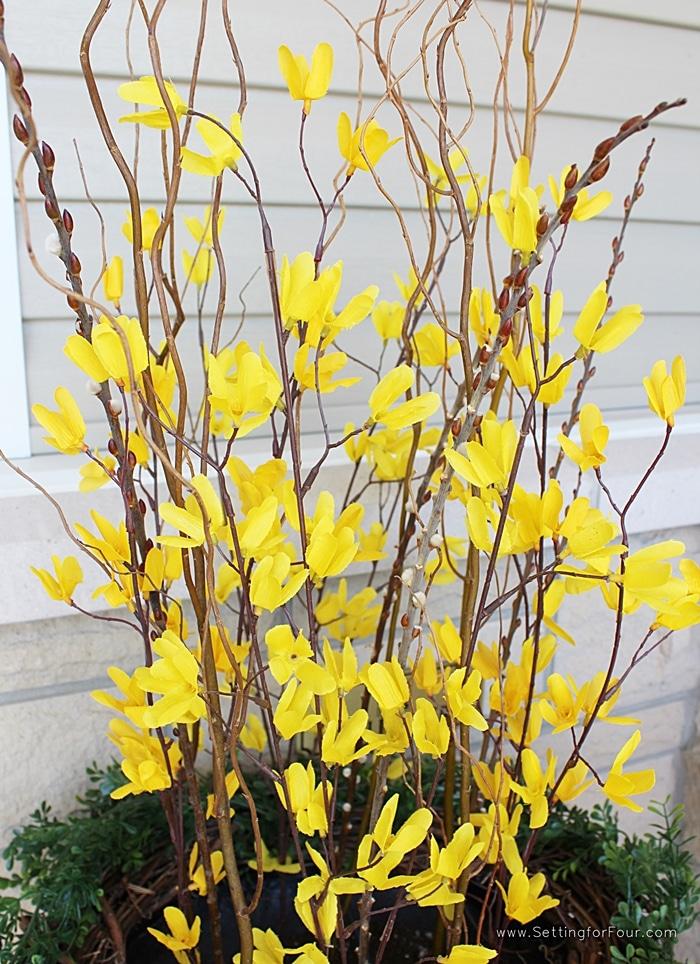 DIY Porch or Entryway Decor - DIY Spring Urn Decorating Tips. www.settingforfour.com