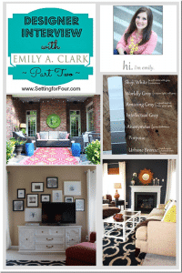 Designer Interview {Part 2} ~ Emily A. Clark