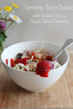 Lemony Tuna Salad with Sweet Cherry Poppy Seed Dressing Recipe