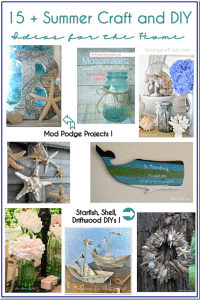 15 + Summer Craft and DIY Ideas for the Home