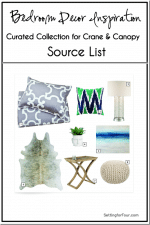 Source List for Bedroom Decor Inspiration // Curated Collection for Crane & Canopy