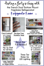 Hosting a Party is Easy with the Frigidaire French Door Bottom Mount Refrigerator // Refrigerator Review