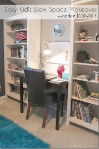 Quick and Easy Kids Work Space Makeover – Organize and Decorate Before & After #WalmartFrugalHeroes