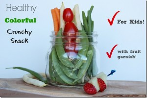 Healthy Vegetable Snack for Kids – Back to School Idea