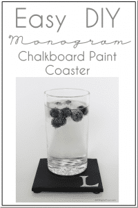Easy DIY Monogram Chalkboard Paint Coasters