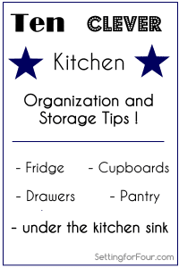 Ten Easy, Clever Kitchen Organization and Storage Tips
