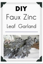 DIY Faux Zinc Garland Tutorial  – Home Decor