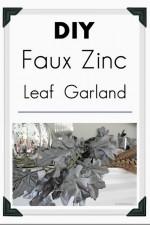 DIY Faux Zinc Garland Tutorial  – Home Decor