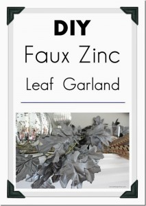 DIY Fall Home Decor Idea: Make this easy painted DIY Faux Zinc Garland for your fireplace mantel, top of an armoire or drape it down the middle of a table for an easy centerpiece idea! See the tutorial and paint supply list.