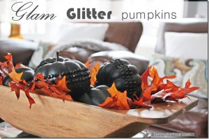 Glam Glitter Pumpkins DIY Tutorial