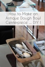 A Dough Bowl is the perfect container for a table centerpiece! See this quick and easy How to Refinish and Stain a Wood Dough Bowl DIY tutorial to create a farmhouse dough bowl.  Instructions and supply list included!