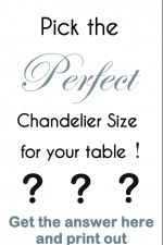 Design Tip – How to Pick the Perfect Chandelier Size and Printable Size Guide