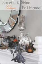 Sparkle and Shine Fall Mantel Decor