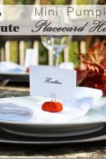 5 Minute Craft – Mini Pumpkin Place Card Holders
