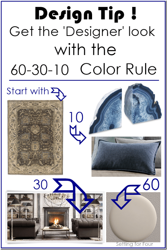 Design Tip The 60 30 10 Color Rule Setting For Four