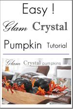 Easy Glam Crystal Pumpkin DIY