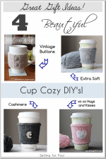 4 Quick DIY Cup Cozy Projects